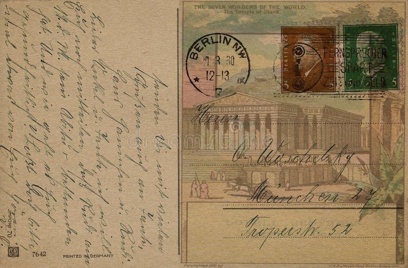 In Verbindung stehende Nachricht der sammelbaren Post Antike lizenzfreie stockfotografie