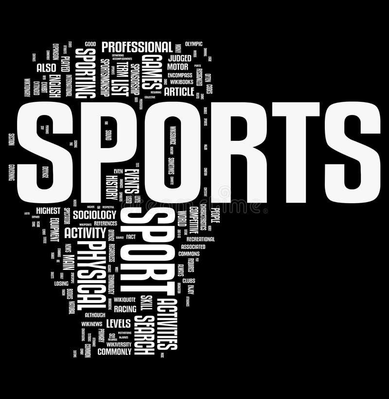 In Verbindung stehende Wortwolke des Sports lizenzfreie abbildung