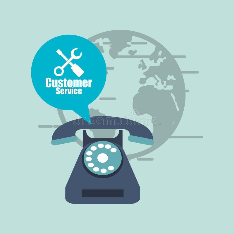 in Verbindung stehendes Ikonenbild des Kundendiensts stock abbildung