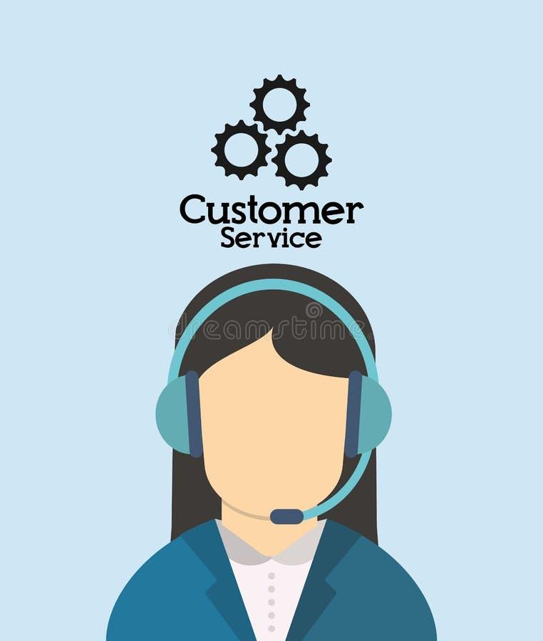 in Verbindung stehendes Ikonenbild des Kundendiensts lizenzfreie abbildung