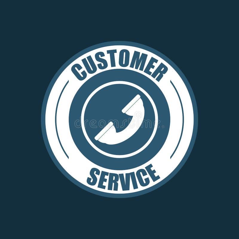 in Verbindung stehendes Ikonenbild des Kundendiensts vektor abbildung