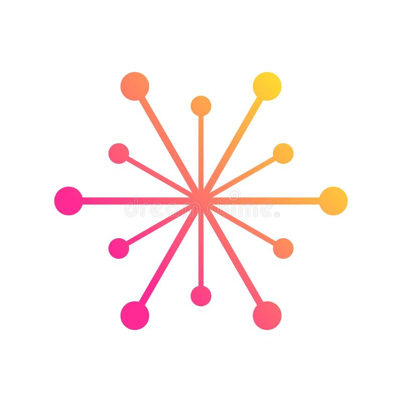 Verbindungen des globalen Netzwerks mit Punkten und Linien stock abbildung