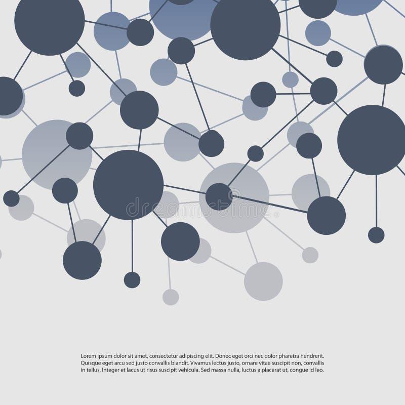 Verbindungen - molekular, global, Geschäfts-Netzgestaltung lizenzfreie abbildung