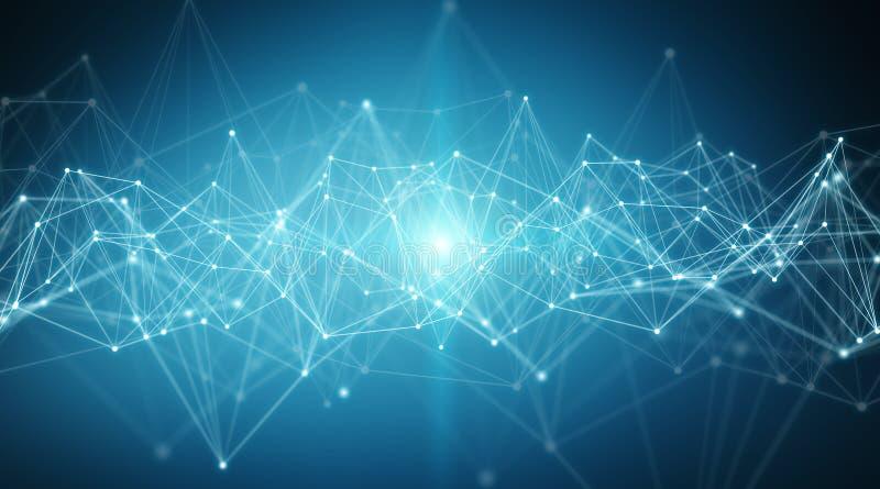 Verbindungen System und Wiedergabe der Datenaustausch 3D lizenzfreie abbildung