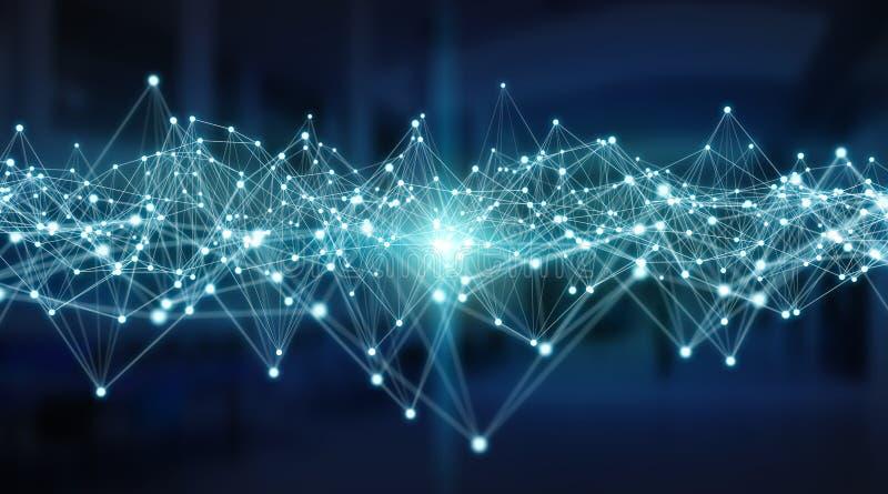 Verbindungen System und Wiedergabe der Datenaustausch 3D vektor abbildung