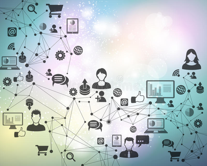 Verbindungs-Technologie-Hintergrund stock abbildung
