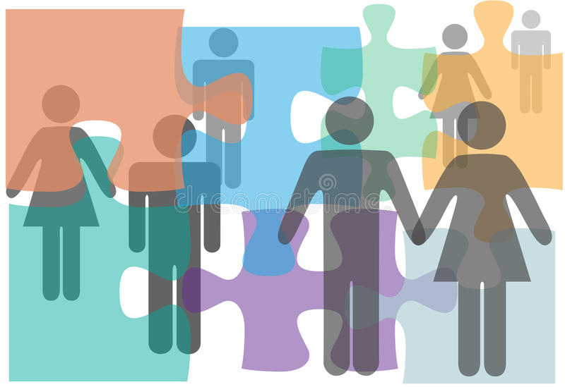 Verbindungsberatungpaare sondert Scheidungleute aus lizenzfreie abbildung