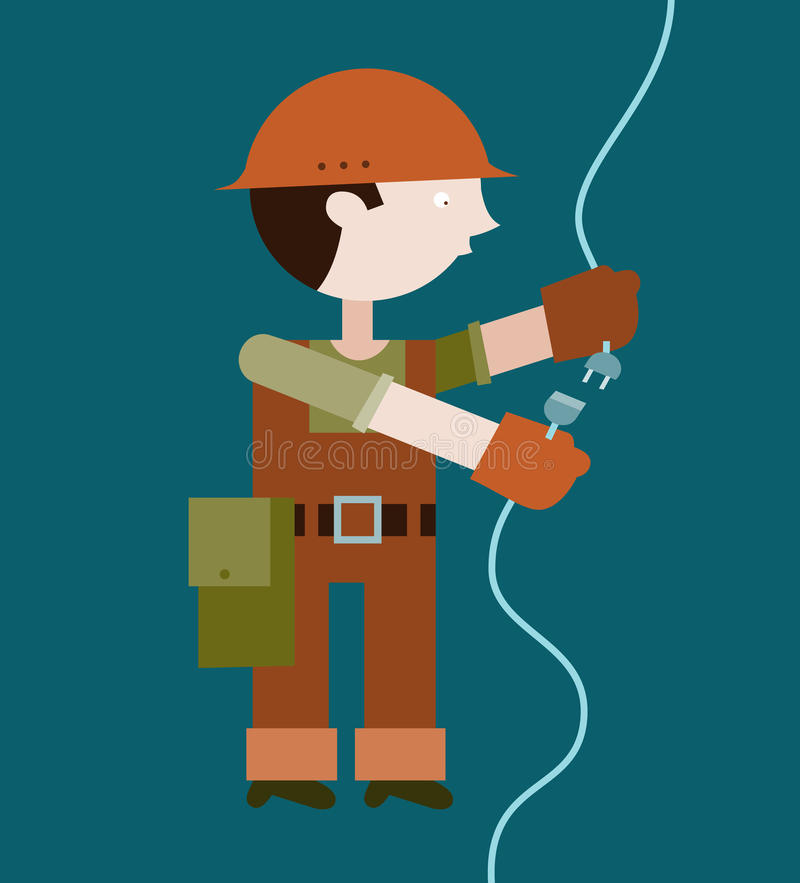 Verbindungsdraht Des Elektrikers Vektor Abbildung - Illustration ...