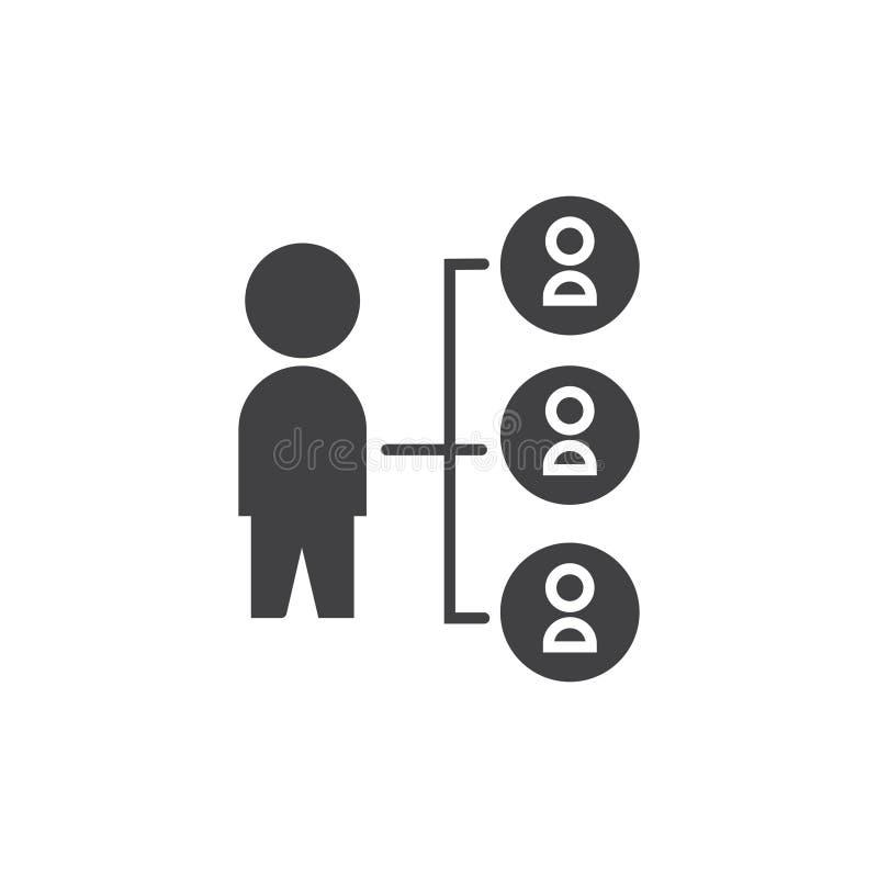 Verbindungsikone Vektorzeichensymbol stock abbildung