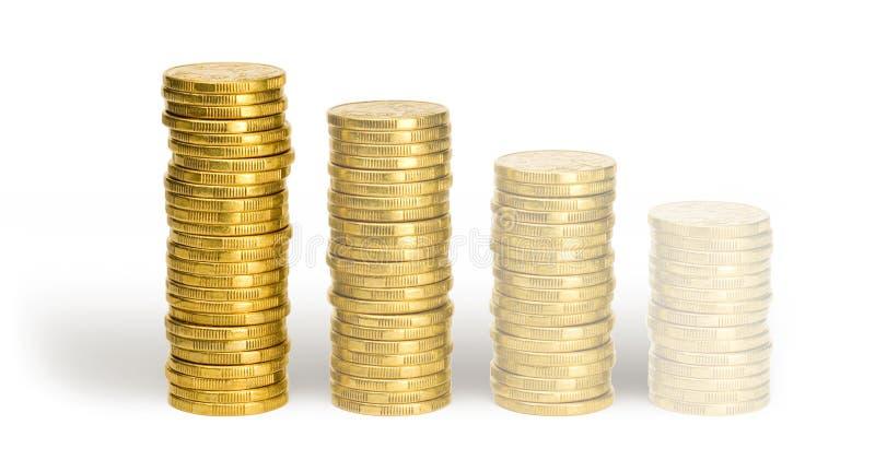 Verblassende ein Dollar-Münzen stockfoto