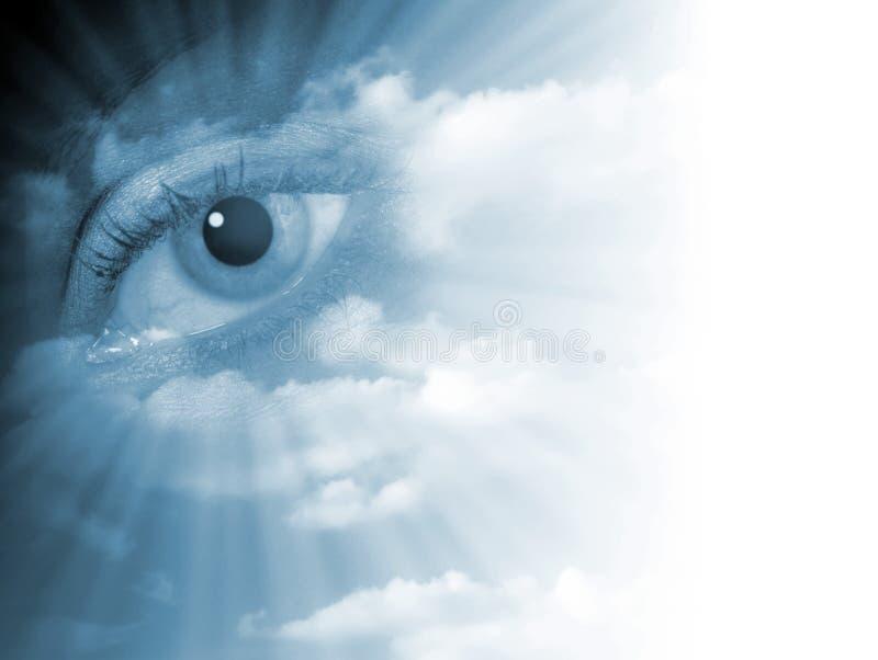 Verblassender Augenauszug lizenzfreie abbildung