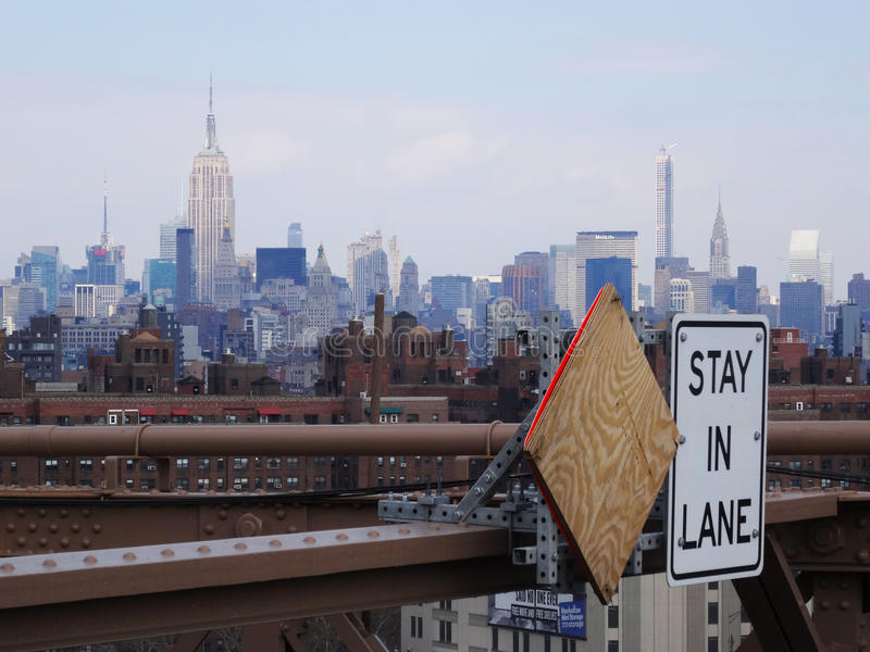 Verblijf in steeg, New York stock foto