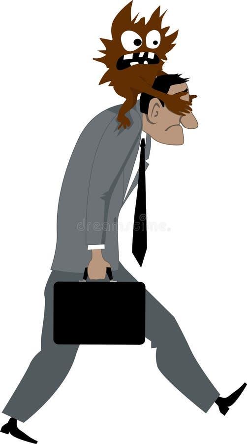 Verblind door vrees vector illustratie