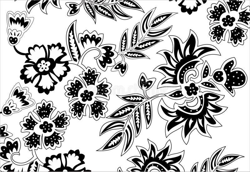 Verblinden de batik Javanese traditionele emblematische charmes de winnaars over het bedrijfsleven stock illustratie