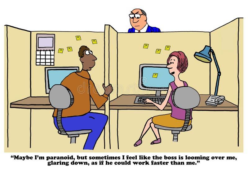 Verblindende Werkgever royalty-vrije illustratie
