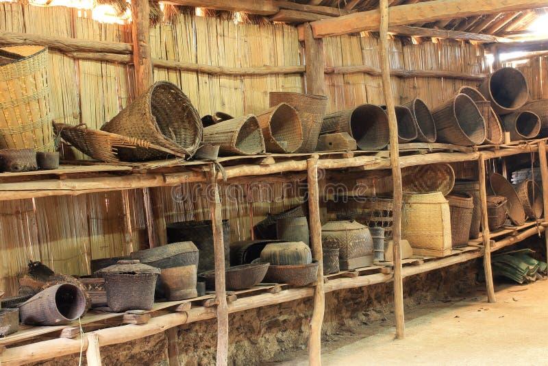 Verbod Doi Pui Tribal Museum. stock afbeeldingen