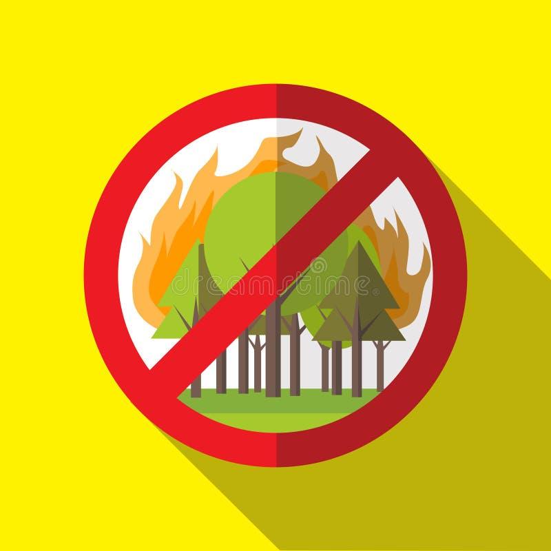 Verbod Forest Fires Vector Sign - Affiche stock fotografie