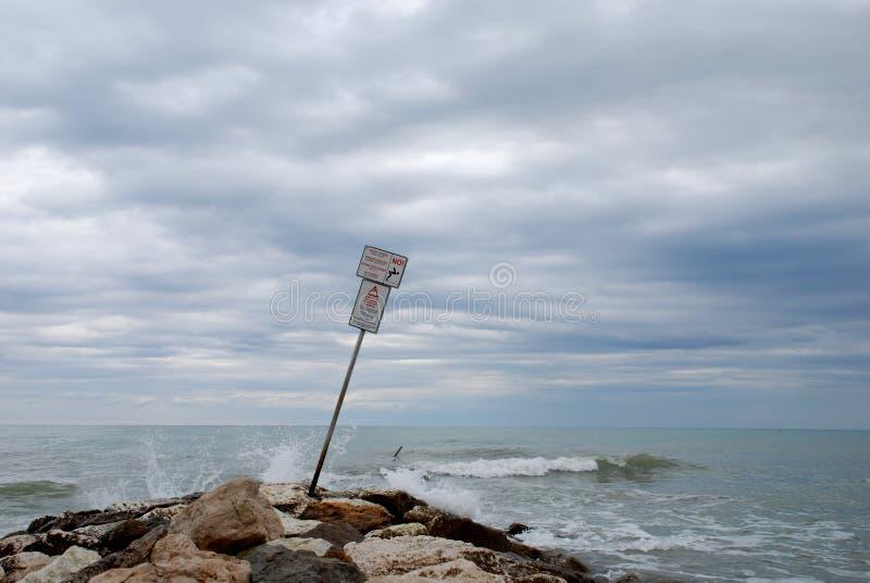 Verboden duik royalty-vrije stock fotografie
