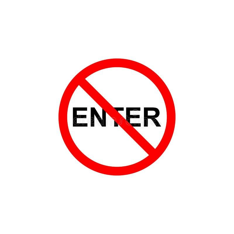 Verboden ga pictogram in kan voor Web, embleem, mobiele toepassing, UI UX worden gebruikt stock illustratie