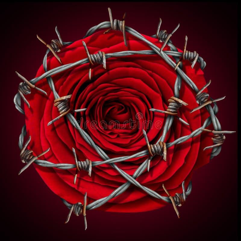 Verboden liefde vector illustratie