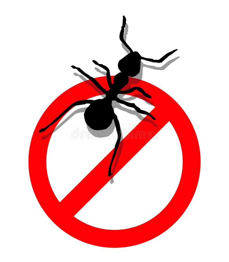 Verboden om mieren in te gaan stock illustratie