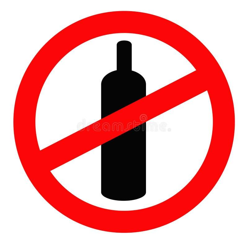 Verboden om te drinken stock illustratie