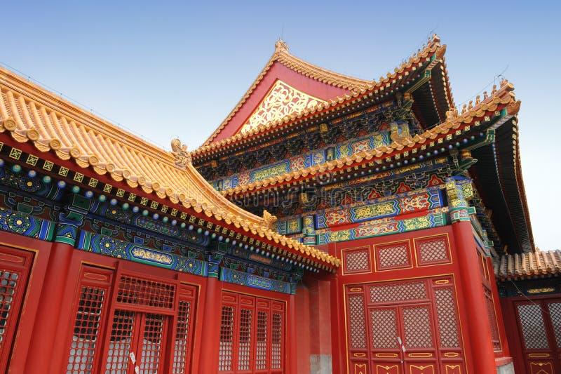 Verboden stad in Peking royalty-vrije stock afbeeldingen
