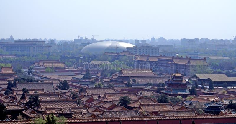 Verboden stad Peking stock foto's
