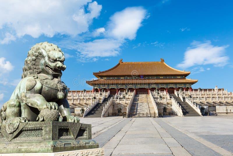 Verboden stad in Peking stock fotografie
