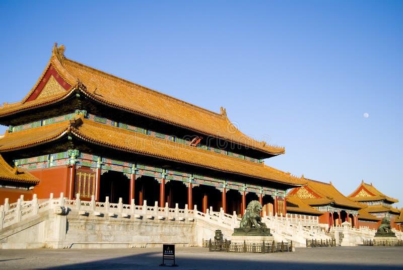 Verboden stad in Peking, China royalty-vrije stock fotografie
