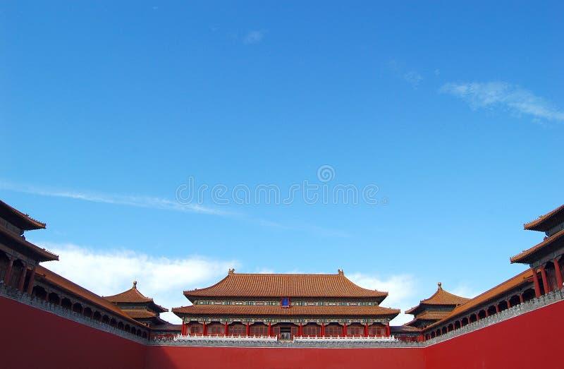Verboden stad, Peking China stock foto