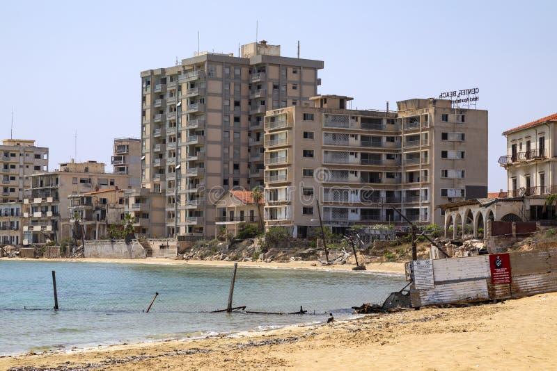 Verboden Streek - Famagusta - Turks Cyprus royalty-vrije stock afbeelding
