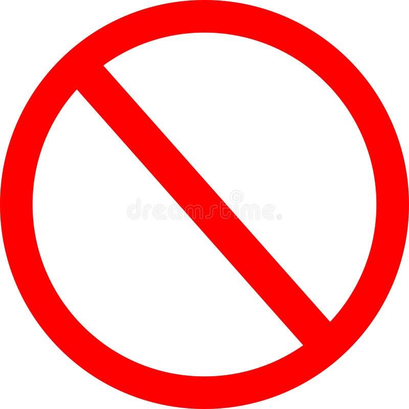 Verboden Teken stock illustratie
