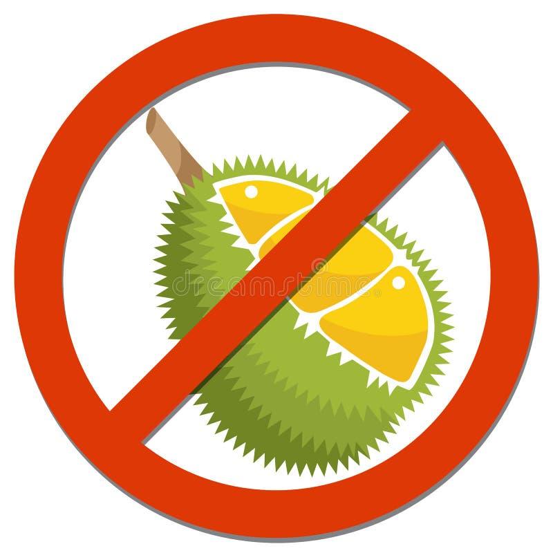 Verbodsteken met Durian voor voedselconcept stock foto