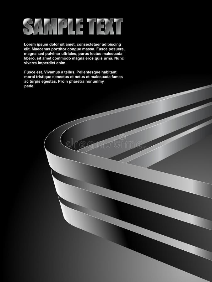 Verbogener Stahlstabhintergrund vektor abbildung