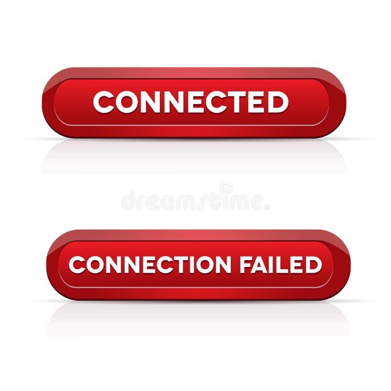 Verbonden - Aansluting ontbroken rode knopen vector illustratie