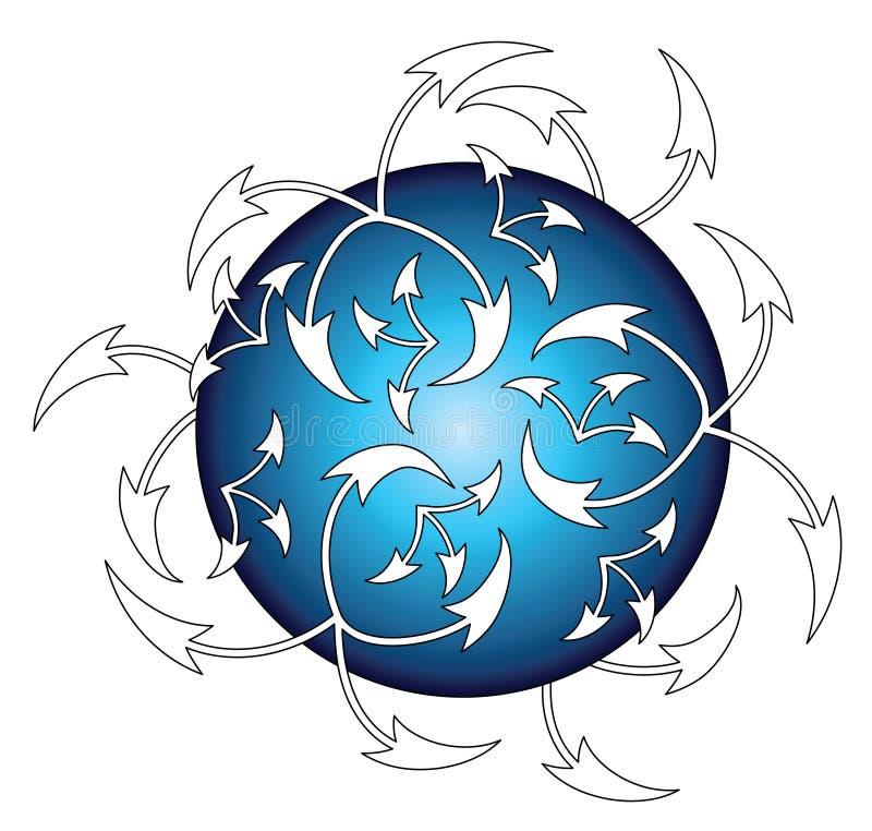Verbonden Aarde royalty-vrije illustratie