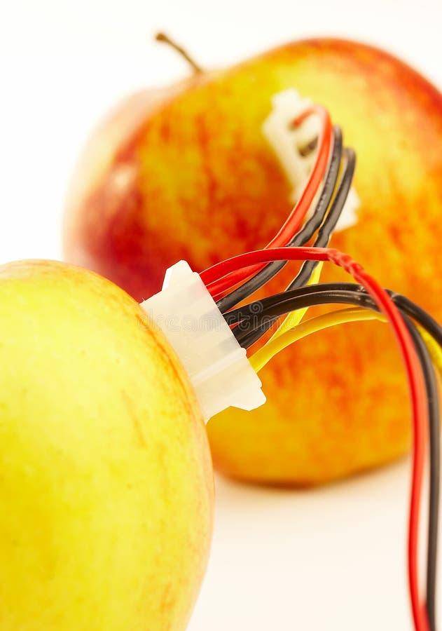 Verbonden appelen stock afbeeldingen