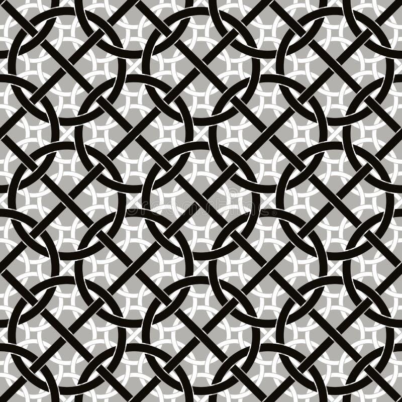 Verbonden cirkels en lijnen naadloos patroon vector illustratie