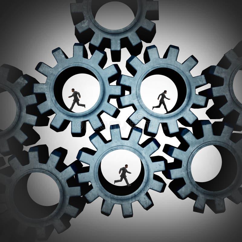Verbonden Groepswerkmensen vector illustratie