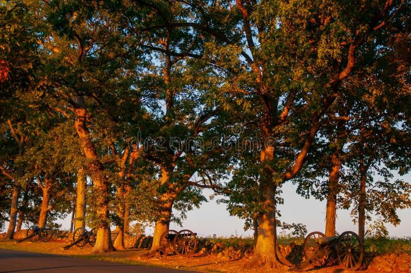 Verbonden Kanonnenseminarie Ridge Sunset royalty-vrije stock foto