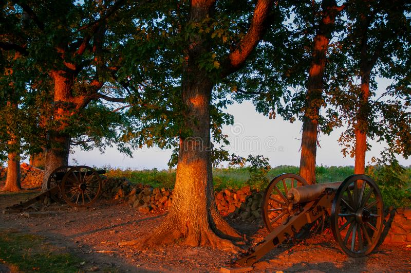 Verbonden Kanonnenseminarie Ridge Sunset royalty-vrije stock foto's