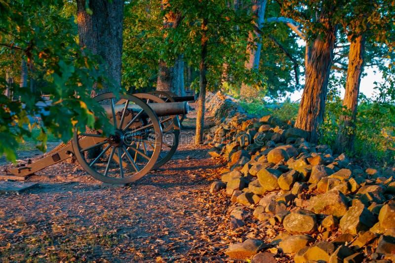 Verbonden Kanonnenseminarie Ridge Sunset stock foto's