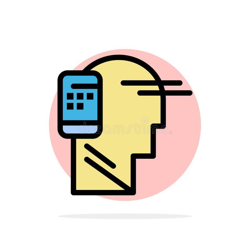 Verbonden mededeling, Menselijk, Mobiel, van de Achtergrond mobiliteits Abstract Cirkel Vlak kleurenpictogram stock illustratie
