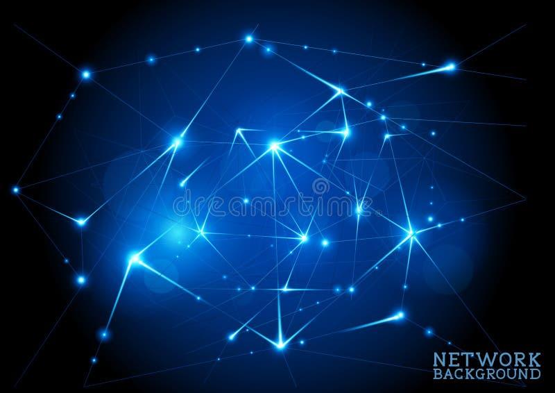 Verbonden Netwerkachtergrond vector illustratie