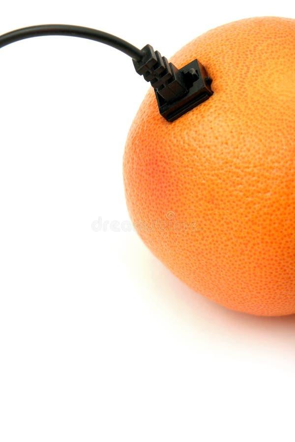 Verbonden sinaasappel stock afbeeldingen
