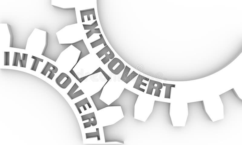 Verbonden toestellen Psychologieconcept vector illustratie