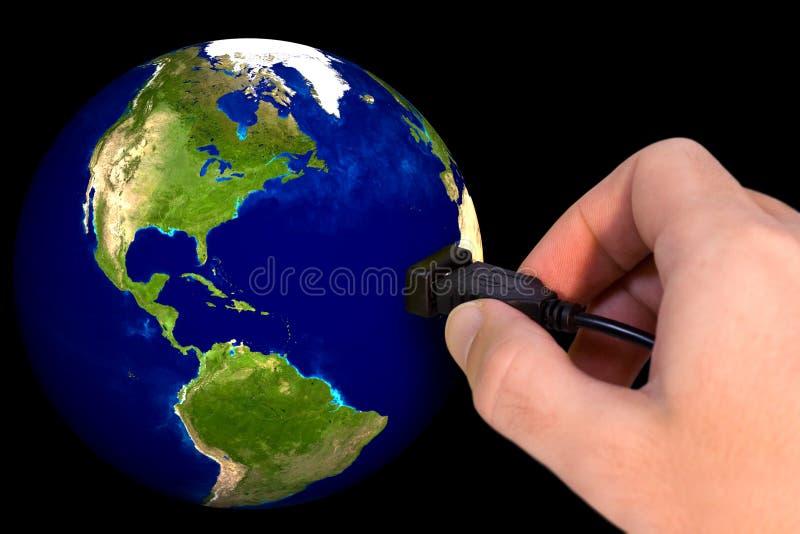 Verbonden wereld stock foto
