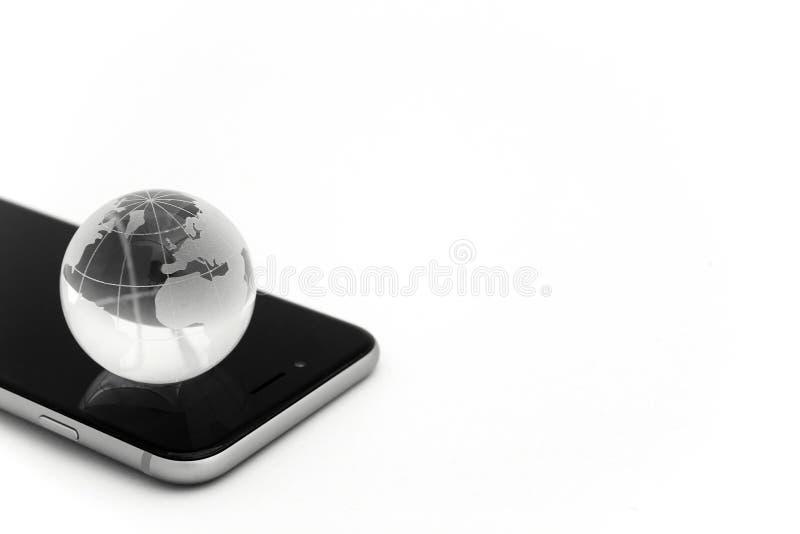 Verbonden wereld Sociaal netwerkconcept stock foto's