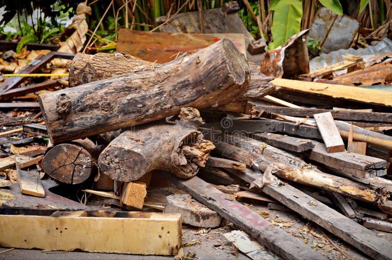 Verborgen houten stapel van art. royalty-vrije stock foto